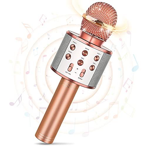 Tesoyzii Mikrofon Kinder, Geschenk Junge 4-14 Jahre Spielzeug Mädchen 4-14 Jahre Karaoke Mikrofon Kinder Spielzeug 5 4 6 8 7 9 Jahre Junge Mädchen Geschenke 4-14 Jahre Bluetooth Mikrofon