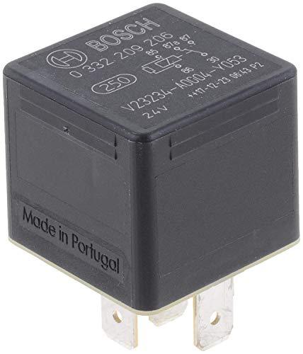 Bosch 0332209206 Mini relé de 24V 20 A, IP5K4, temperatura de funcionamiento de -40° a 85°C, relé de 5 pines