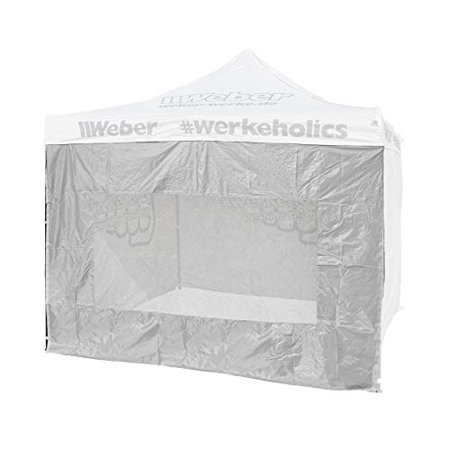 Seitenwand mit Sichtfenster für Easy-Up Zelt 3 x 3 m grau