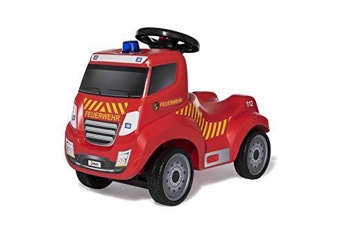 Ferbedo Feuerwehr Rutscher (mit Hupe, neues Design, Sirene, Blaulicht, Feuerwehrauto, Flüsterlaufreifen, ergonomische Kniemulde) 171125