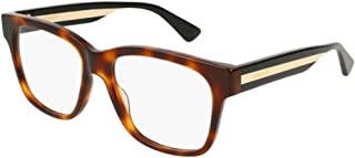 Gucci GG0342O Rectangular Eyeglasses With Tri-colored Temples 56mm