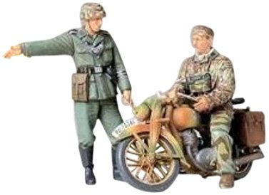 タミヤ 1/35 ミリタリーミニチュアシリーズ No.241 ドイツ陸軍 軍用オートバイ 野戦伝令セット プラモデル ...