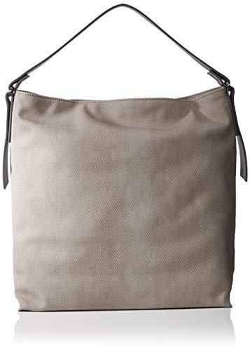 Esprit Accessoires Damen Tasha Hobo Schultertasche, Grau (Grey), 12x36x34 cm