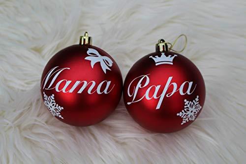 JULANO Palline per albero di Natale personali con un desiderio – nome spaventoso, un regalo molto personale (set da 4)