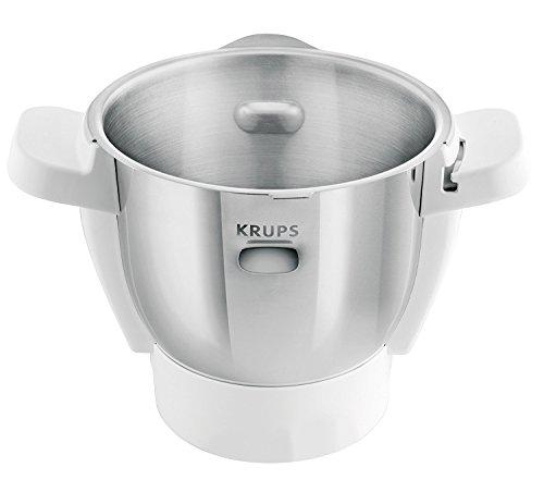 Krups XF553D Ersatzschüssel (für Prep und Cook, produziert ab 01.01.2018, und i Prep und Cook Gourmet) edelstahl/weiß