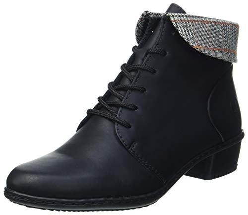 Rieker Damen Y0711 Mode-Stiefel, schwarz/grau-rost 00, 41 EU