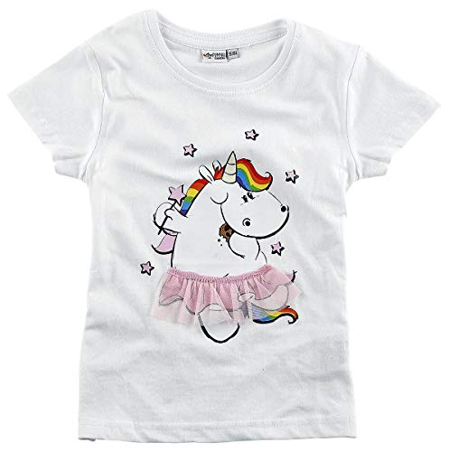 Pummeleinhorn Ballerina T-Shirt weiß 134/140