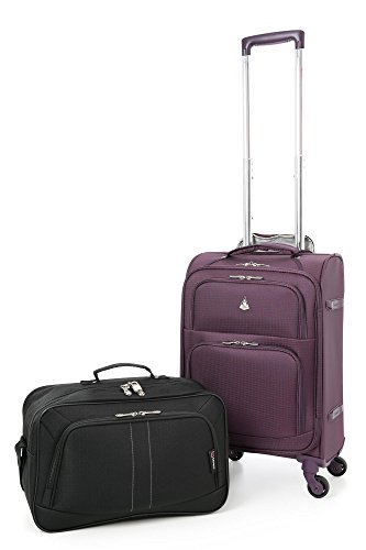 Aerolite 22x14x9 Carry On Lightweight Travel Trolley Bags Luggage Suitcase