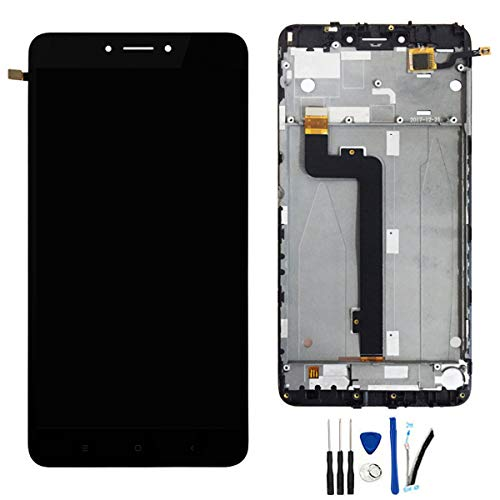 LCD Display Digitizer Touch Screen Assembly with Frame Replacement for Xiaomi Mi Max 2 Black
