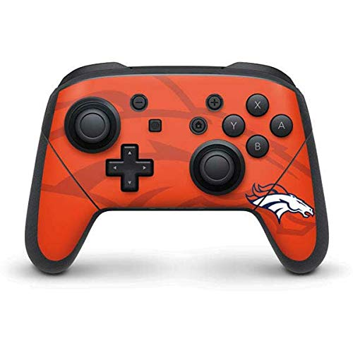 Skinit Decal Gaming Skin Compatible with Nintendo Switch Pro Controller - Officially Licensed NFL Denver Broncos Double Vision Design