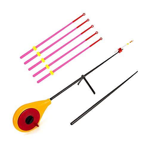 HOPQ Mini-Eis-Angelrute für den Winter, Outdoor-Sport, tragbare Angelrute, Angelzubehör, nicht leicht zu brechen, langlebig und einfach zu tragen.