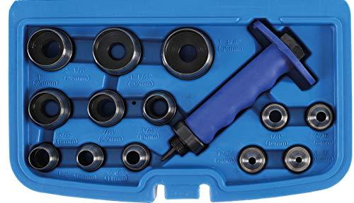 BGS 566 | Locheisen-Satz | 14-tlg. | 5 - 35 mm| inkl. Kunststoff-Koffer | Lochstanzen-Set | Stanzeisen | Stanz-, Loch-Werkzeug