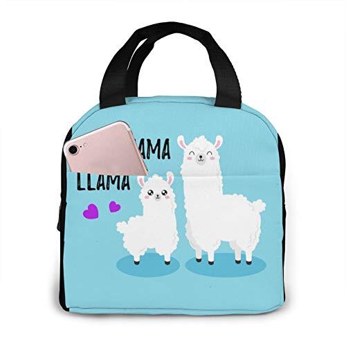 Best Mama Llama Unisex Portable Reusable Waterproof Thermal Insulation Lunch Bag Picnic Bag Shopping Bag Cooler Box