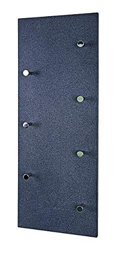 Haku-Möbel 42550 Wandgarderobe, Stahl, MDF, granitoptik-Chrom Nickel, 5.5x80x30 cm