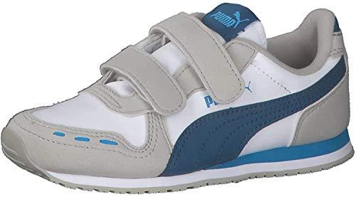 PUMA Unisex-Kinder Cabana Racer SL V PS Sneaker, Gray Violet-Dresden Blue, 33 EU