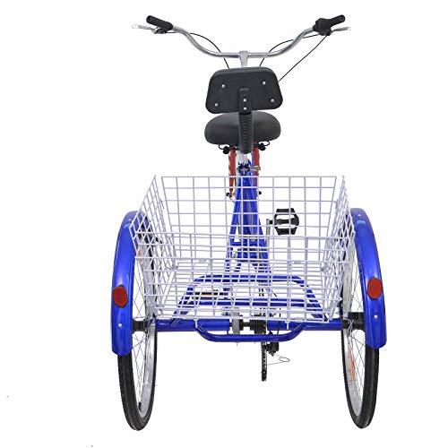 MOPHOTO Erwachsenen-Dreirad 7 Gang Dreirad für Erwachsene, Meridian 26 Erwachsene Dreirad für Männer/Damen/Senioren - 5