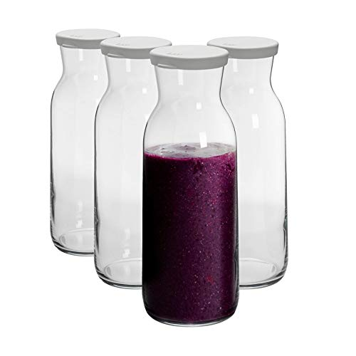 Argon Tableware 4 Piezas de Brocca garrafa de Cristal de Agua con...