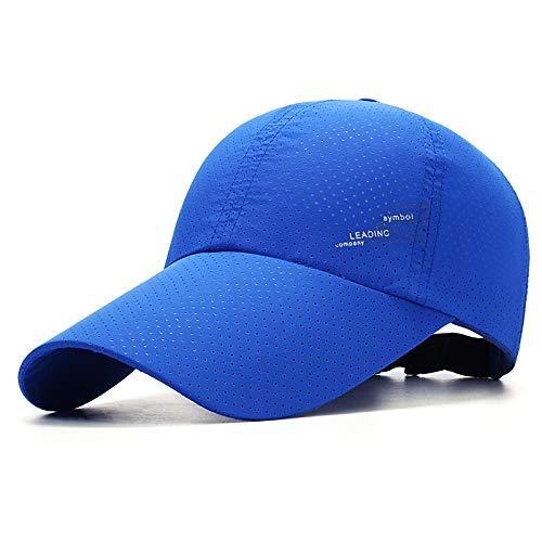 sdssup Sombrero de los Hombres Visera de Moda de Verano Protector Solar de Mediana Edad Gorro Transpirable Gorra de béisbol de Ocio al Aire Libre 5 Ajustable