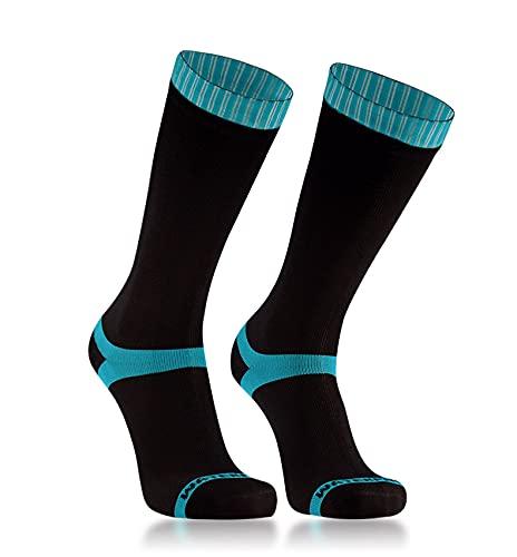 Dexshell Coolvent Mid-Calf Waterproof Socks, Aqua Blue, Large