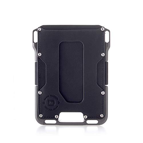 Dango M1 Maverick EDC Wallet - Made in USA - Genuine Leather, Slim, Minimalist, Metal, RFID Blocking