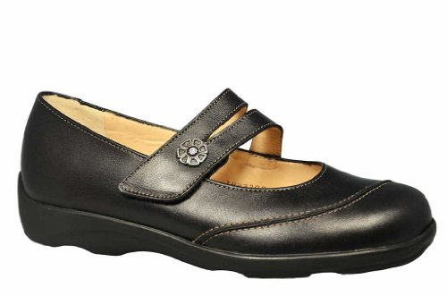Finn Comfort Womens Vivero 2353 Black Leather Shoes 41 EU