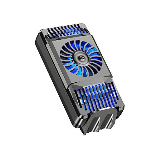 NMD&LR Ventilador De Refrigeración para Teléfonos Móviles, Refrigeración por Semiconductores Radiador para Teléfono Celular Refrigeración por Agua Portátil Refrigeración Rápida para Juegos