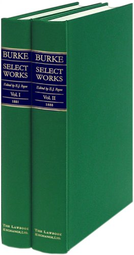 Burke Select Works (CLARENDON PRESS SERIES)