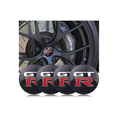 YQTYGB 4 Piezas Coche Tapas Centrales De Llantas Cubiertas, para Nissan GTR R35 R34 Altima 56mm La Cubierta Decorativa con Accesorios De Estilo del Logotipo