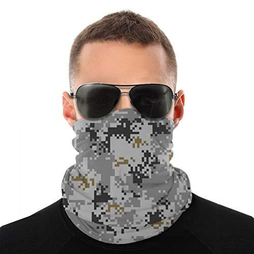 Camuflaje urbano digital Patrón sin costuras Variedad unisex Toalla para la cara Diademas Insertar Filtro de carbono Bandana Cuello Protector de cara para polvo al aire libre
