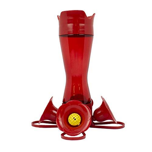 Perky-Pet 203CPBR Pinchwaist Hummingbird Feeder, Red Glass