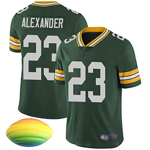 Camiseta de rugby Packers, RODGERS # 12 ADAMS # 17 ALEXANDER # 23 SAVAGE # 26 JONES # 33 SMITH # 55 Camiseta deportiva de fútbol americano, pelota de fútbol a presión con pelota de espuma PU-green2