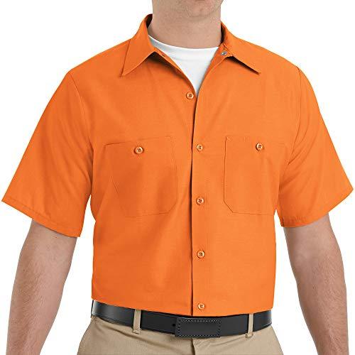 Red Kap Industrial Solid Work Shirts SP24 Orange Large - 2 Pack