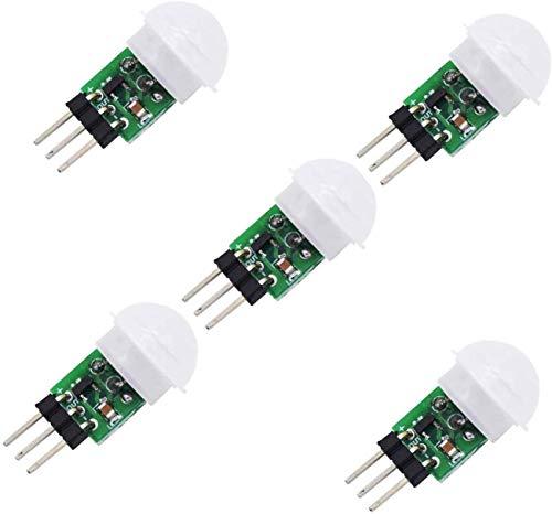 ARCELI Módulos detectores de Sensor de Movimiento PIR infrarrojo piroeléctrico IR