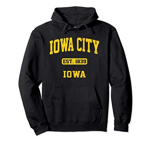 Iowa City Iowa IA vintage University & College Style Pullover Hoodie