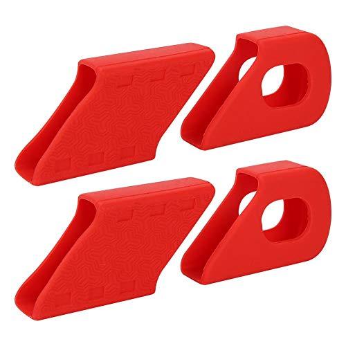Yosoo Health Gear Protector de manivela MTB, 4PCS Protección de manivela de Bicicleta Protector de Mangas de Bicicleta Botas Protector Cubierta a Prueba de Polvo para Bicicleta de montaña(Rojo)