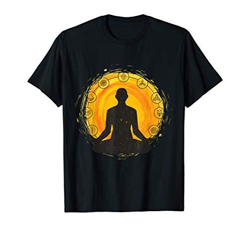 Ropa de Yoga/ Meditación/ Asiento de Loto/ Namaste/ OM Camiseta