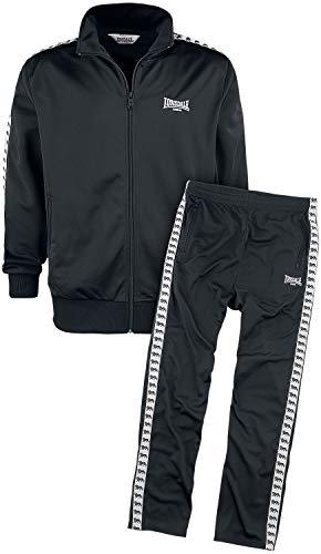 Lonsdale Herren Trainingsanzug Wyberton, Größe:L, Farbe:Black