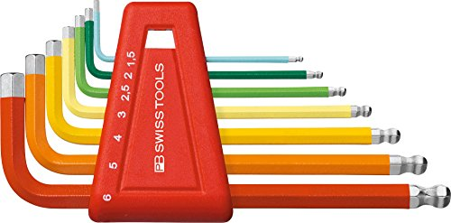 PB Swiss Tools PB 212H-6 RB Ballend Hex Key Set rainbow