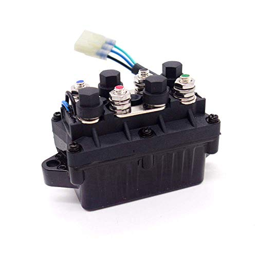 WonVon Universal ATV Winch Solenoid Switch Relay Assembly for Arctic Cat 0409-066 6639-894 1436-066 1436-805 0436-700 1436-187