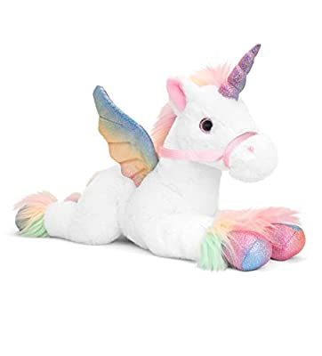 Keel Toys SF2121AMB Pegasus - Peluche (50 cm), Color Blanco
