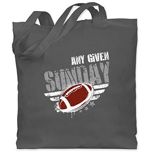 Shirtracer American Football - Any Given Sunday Football - Unisize - Dunkelgrau - Spruch - WM101 - Stoffbeutel aus Baumwolle Jutebeutel lange Henkel