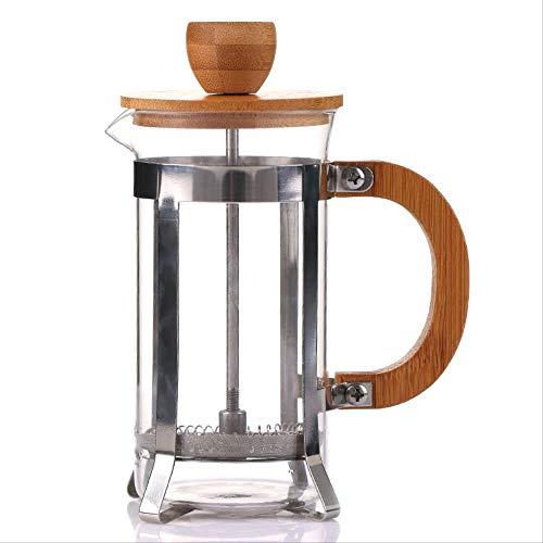400ml Bamboe en Houten Cover Druk Pot Pot Pot Punch Huishoudelijke Filter Druk op het Brouwen Koffie Apparaat Glas
