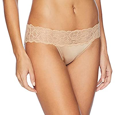 Calvin Klein Women's Seductive Comfort Bikini Panty, Bare, Small