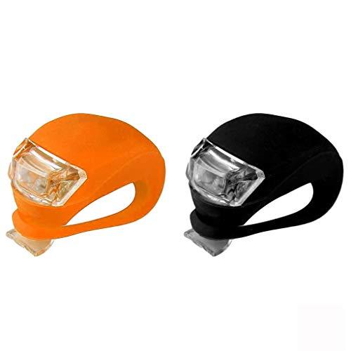 About1988 wasserdichte,Ultrahelle LED,3 Modus-Einstellung Ultra Bright LED 2 x CR2032-Batterien passend für alle Fahrräder, am Rucksack befestigt, Helm, Jacke (B)