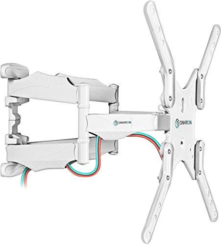 """ONKRON TV Wandhalterung für 32\"""" – 60"""" Zoll LCD LED OLED 4K Ultra HD TV Schwenkbar Neigbar Fernseherhalterung VESA 100x100 bis 400x400 mm M5 Weiß"""