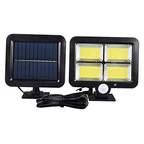 N/A/a Luces de Sensor de Movimiento Solar COB LED Luces de Pared de Seguridad para Exteriores - 128 COB, Individual