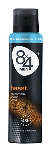 8x4 Men Deo Beast Spray, ohne Aluminium, 6er Pack (6 x 150 ml)