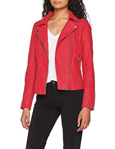 ONLY Damen onlSAGA Faux Leather Biker CC OTW Jacke, Rosa Virtual Pink, 34