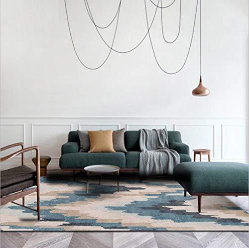 Mianbao Teppich Persönlichkeit Moderne europäische und amerikanische asymmetrische Welle für die Moderne des Raumes Schlafzimmer Couchtisch A/Slip M Feuchtigkeit Proof-giftig 120 * 160cm