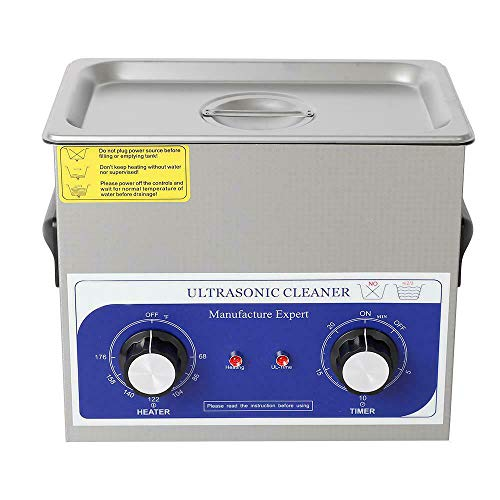 GVOS Ultrasonic Cleaner Machine 3L/0.8Gal with Timer - Professional Kit for Cleaning Jewelry, Diamonds, Gold Chains, Coins, Watches and Glasses - 40 KHz 120W Ultrasound Cleaning System